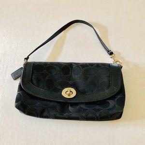 Coach Black Convertible Wristlet Bag